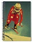Skiing In Crans Montana Spiral Notebook