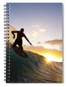 Skimboarding At Sunset I Spiral Notebook