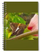 Skipper Trying To Hide Behind A Flower Spiral Notebook
