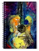 Skipping Notes Across Her Body Spiral Notebook