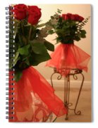 Skirted Roses In Mirror Spiral Notebook