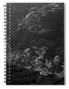 Skn 6707 Tree Parade. B/w Spiral Notebook