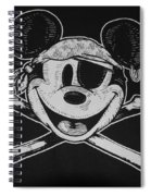Skull And Bones Mickey  Spiral Notebook