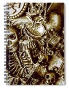 Skull And Cross Bone Treasure Spiral Notebook