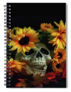 Skull And Flowers Spiral Notebook