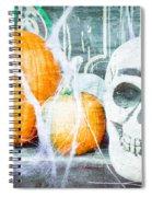 Skull And Pumpkin Spiral Notebook