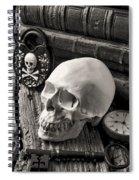 Skull And Skeleton Key Spiral Notebook