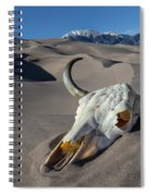 Skull At The Great Sand Dunes Spiral Notebook