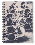 Skull Fashion Accessories  Spiral Notebook