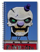 Skull Fun House Sign Spiral Notebook
