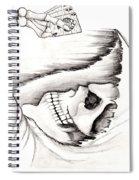 Skull Gambler Spiral Notebook