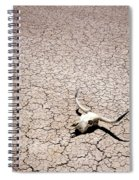 Skull In Desert Spiral Notebook