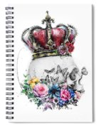 Skull Queen With Flowers Spiral Notebook