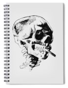 Skull Smoking A Cigarette Spiral Notebook