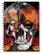 Skull Times Three Larger Size Spiral Notebook