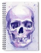 Purple Skull Spiral Notebook