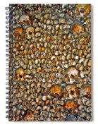 Skulls And Bones Under Paris Spiral Notebook