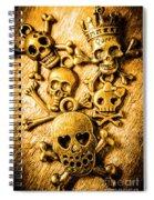Skulls And Crossbones Spiral Notebook