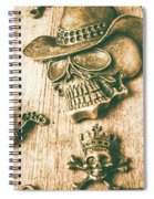 Skulls And Pieces Spiral Notebook