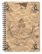 Skulls In Grunge Style Spiral Notebook