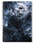 Skulls Tangled In Fear Spiral Notebook