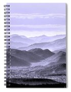 Sky Blue Hills Of The Tonto Spiral Notebook