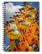 Sky Giraffes Spiral Notebook