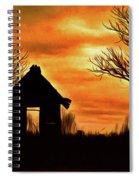 Sky On Fire Spiral Notebook