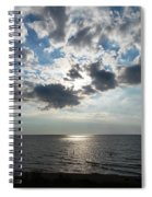 Sky Over Oval Beach Lake Michigan 1 Spiral Notebook