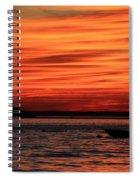Sky Ripple Sunset Spiral Notebook