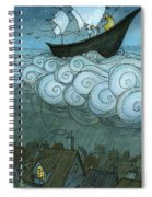 Sky Sailing Spiral Notebook