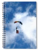 Skydiver With Flag Spiral Notebook