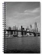 Skyline And The Brooklyn Bridge Spiral Notebook