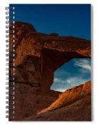 Skyline Arch At Sunset Spiral Notebook
