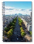 Skyline Of Paris, France Spiral Notebook