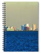 Skyline Of Tampa Bay Florida Spiral Notebook