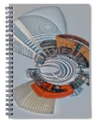 skyline of Uptown charlotte mini planet in winter Spiral Notebook