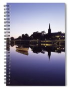 Skyline Over The R Garavogue, Sligo Spiral Notebook