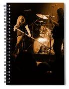 Skynyrd Sf 1975 #10 Crop 2 Enhanced In Amber Spiral Notebook