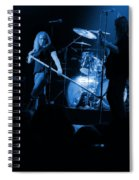 Skynyrd Sf 1975 #10 Crop 2 Enhanced In Blue Spiral Notebook