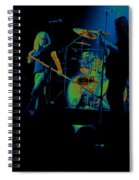 Skynyrd Sf 1975 #10 Crop 2 Enhanced In Cosmicolors Spiral Notebook