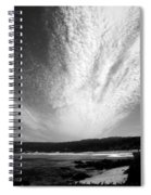 Skyscape At Carmel Beach B And W Spiral Notebook