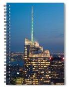 Skyscraper Lit Up At Night, One World Spiral Notebook