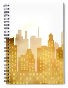 Skyscrapers - Panorama Of Modern Skyscraper Town Spiral Notebook