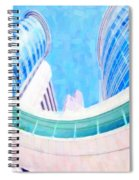 Skyscrapers Against Blue Sky Spiral Notebook