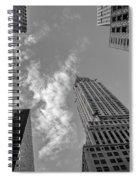 Skytops Manhattan Black And White Spiral Notebook
