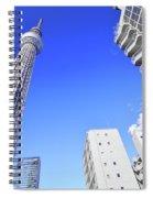 Skytree In Blue Spiral Notebook