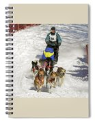 Sled Dogs In Action Spiral Notebook