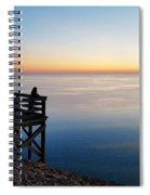 Sleeping Bear Overlook At Dusk 02 Spiral Notebook