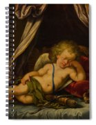 Sleeping Cupid Spiral Notebook